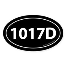 1017D Auto Sticker -Black (Oval)