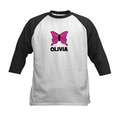 Butterfly - Olivia Kids Baseball Jersey