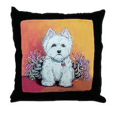 West Highland White Portrait Throw Pillow