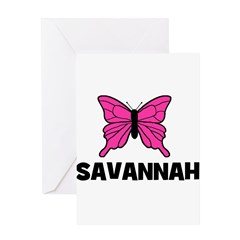 Butterfly - Savannah Greeting Card