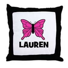 Butterfly - Lauren Throw Pillow
