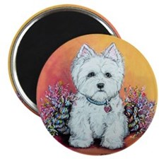 "West Highland White Portrait 2.25"" Magnet (100 pac"