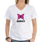 Butterfly - Ashley Women's V-Neck T-Shirt
