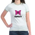 Butterfly - Ashley Jr. Ringer T-Shirt