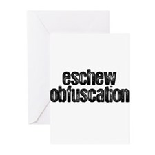 """Eschew Obfuscation"" Greeting Cards (Pk of 20)"