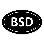 BSD Bumper Sticker -Black (Oval)