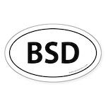BSD Bumper Sticker -White (Oval)