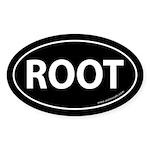 ROOT Bumper Sticker -Black (Oval)