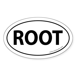 ROOT Bumper Sticker -White (Oval)