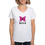 Butterfly - Becca Women's V-Neck T-Shirt