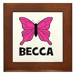 Butterfly - Becca Framed Tile