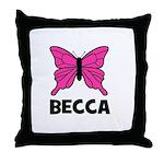 Butterfly - Becca Throw Pillow