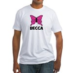 Butterfly - Becca Fitted T-Shirt