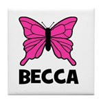 Butterfly - Becca Tile Coaster
