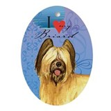 Briard Oval Ornament