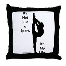 Gymnastics Throw Pillow - Life