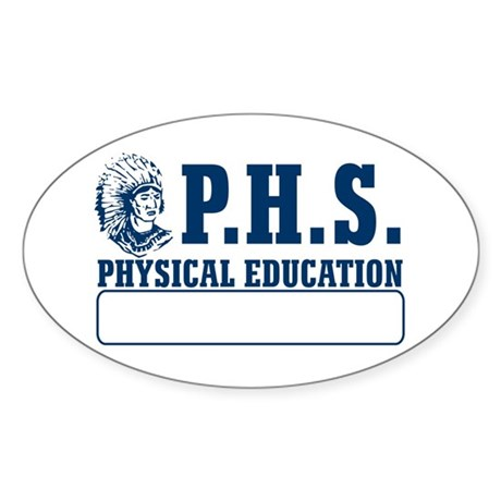 P.H.S. Physical Education Oval Sticker