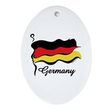 Funky German Flag Oval Ornament