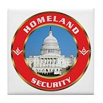 Masonic Homeland Security Tile Coaster