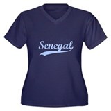 Vintage Senegal Retro Women's Plus Size V-Neck Dar
