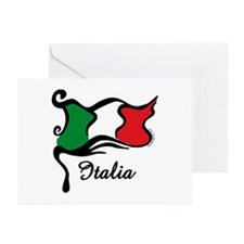 Funky Italian Flag Greeting Cards (Pk of 10)