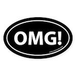 OMG Auto Sticker -Black (Oval)