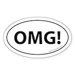 OMG Auto Sticker -White (Oval)