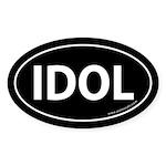 IDOL Auto Sticker -Black (Oval)