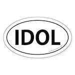 IDOL Auto Sticker -White (Oval)