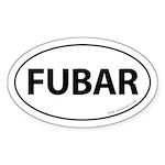FUBAR Auto Sticker -White (Oval)