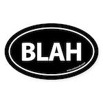 BLAH Auto Sticker -Black (Oval)
