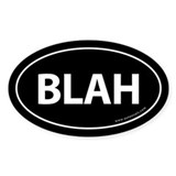 BLAH Auto Sticker -Black (Oval)