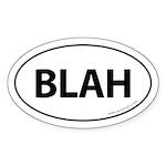 BLAH Auto Sticker -White (Oval)