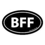 BFF Auto Sticker -Black (Oval)