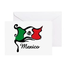 Funky Mexican Flag Greeting Card