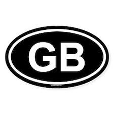 GB Oval Stickers