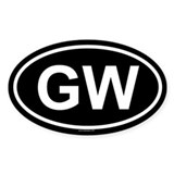 GW Oval Decal
