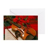 Holiday Violin Sonata Greeting Card