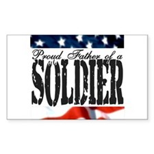 Proud Father Rectangle Decal