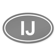 IJ Oval Decal