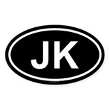 JK Oval Decal