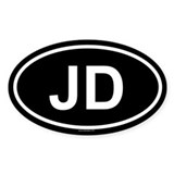 JD Oval Decal
