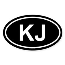 KJ Oval Stickers