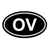 OV Oval Decal