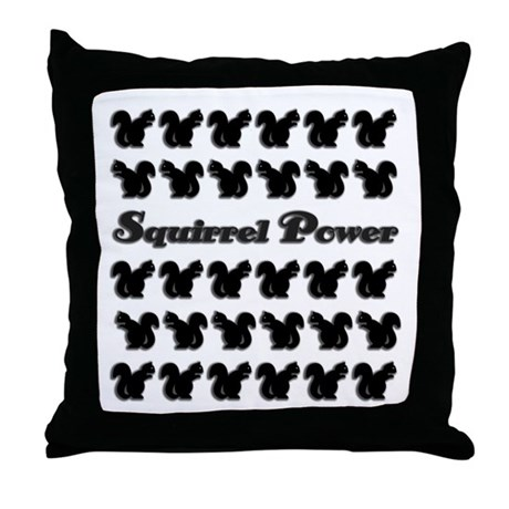 Squirrel power! Throw Pillow