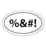 %&#! Auto Sticker -White (Oval)