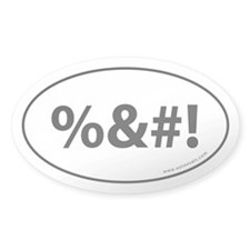 %&#! Auto Sticker -White (Oval)