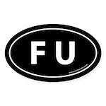 F U Auto Sticker -Black (Oval)