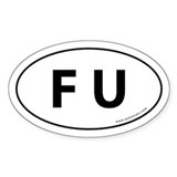 F U Auto Sticker -White (Oval)