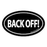 BACK OFF Auto Sticker -Black (Oval)